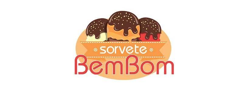 logotipo sorveteria bem bom