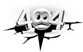 páginas 404 erro