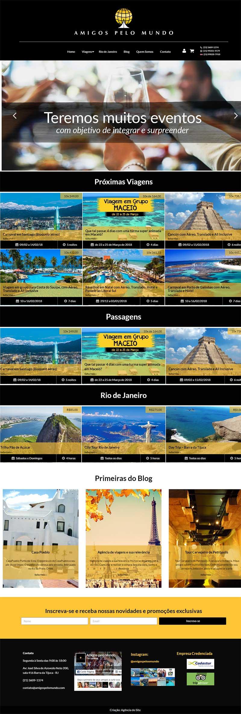 Criação de site para Agência de Viagens
