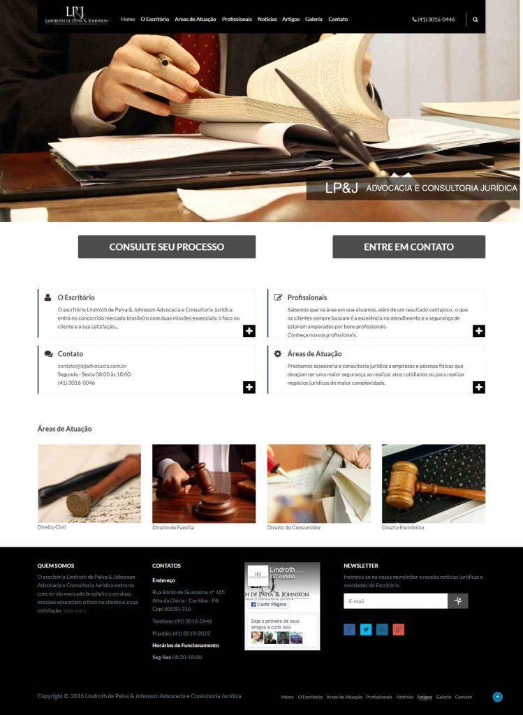 Criação de site para advogado