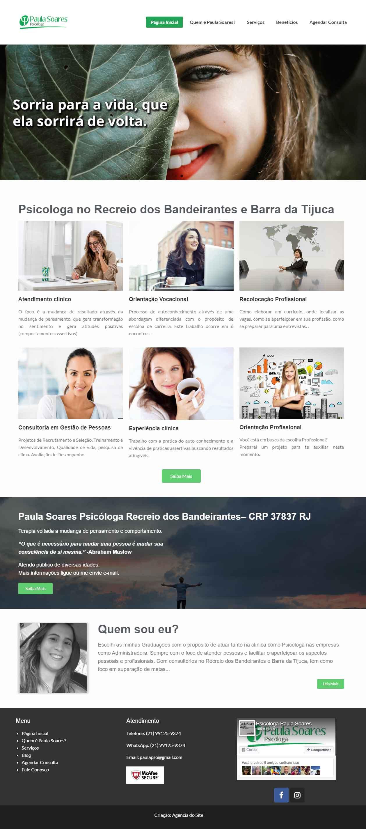 Site para psicóloga