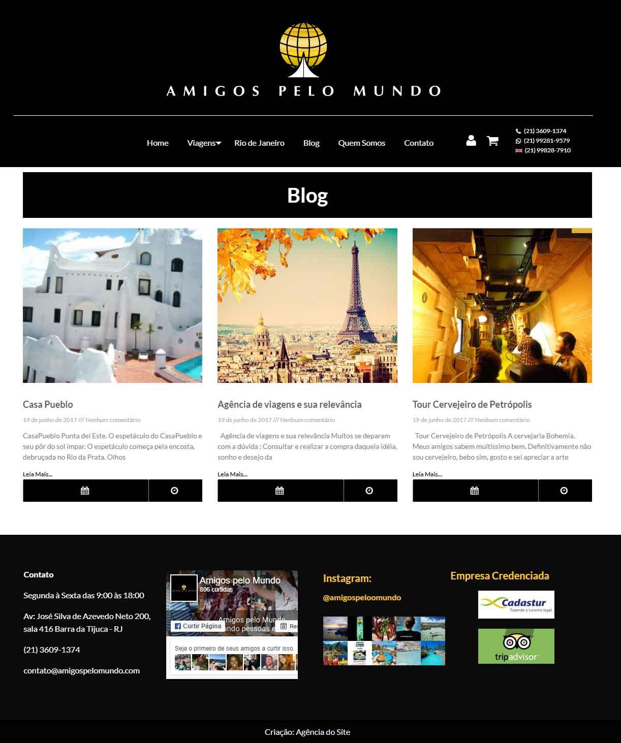 Blog interno - Amigos pelo Mundo