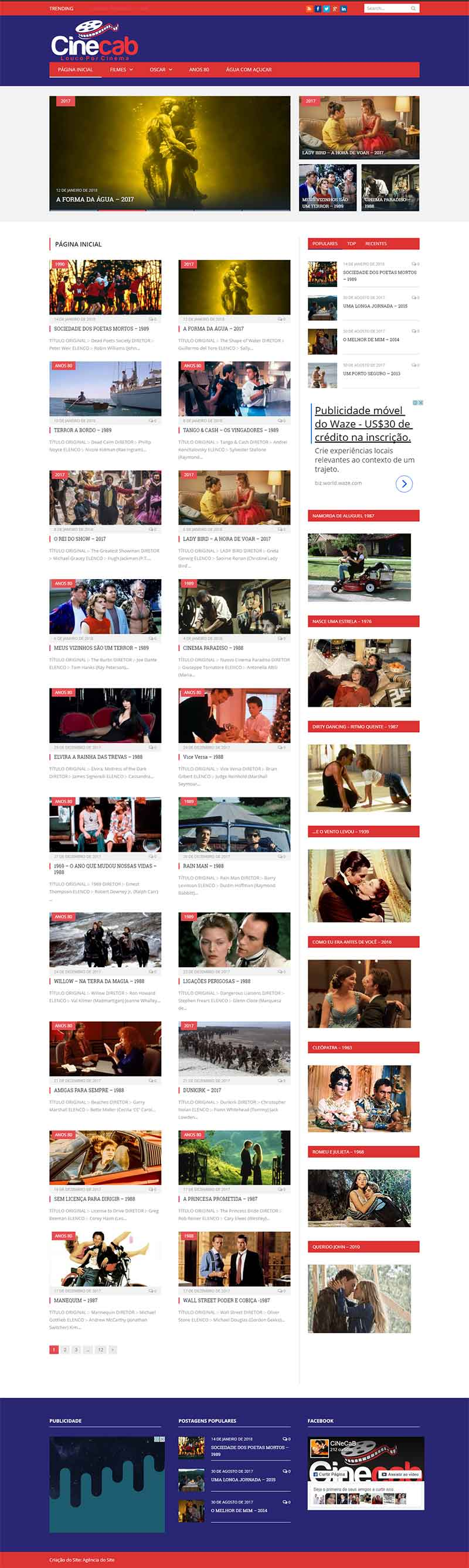 Criação de Blog para CINECAB