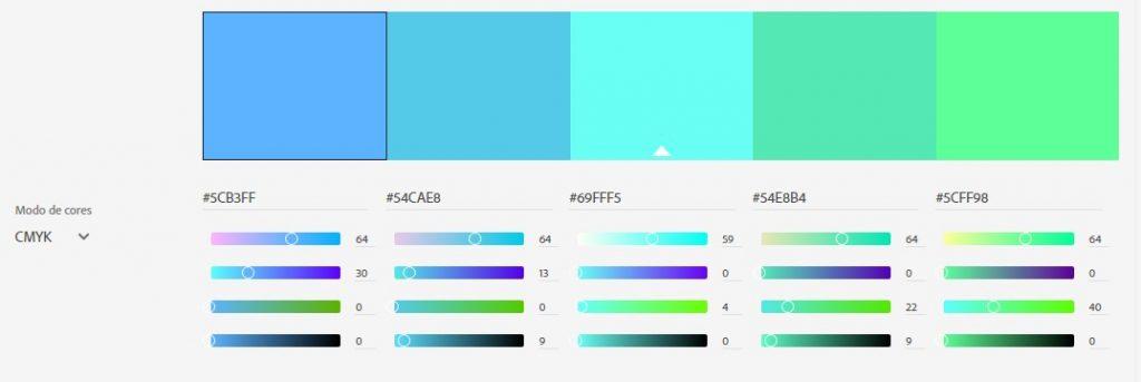 Padrão Análogo - Escolha de Cores na Identidade Visual