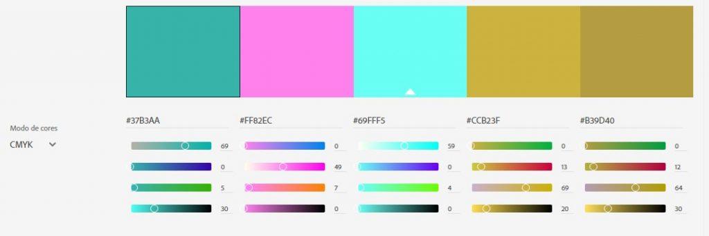 Tríade de Cores Escolha de Cores na Identidade Visual